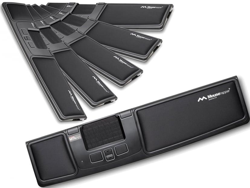Mousetrapper Advance 2.0 Black/White 6-Pack 2,000dpi Styrmatta Kabelansluten Svart