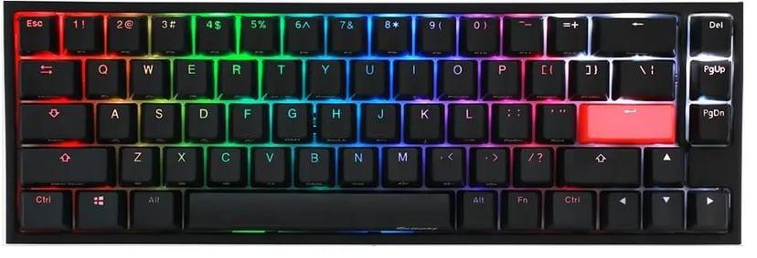 Ducky One 2 SF RGB Langallinen Pohjoismaat Musta, Valkoinen