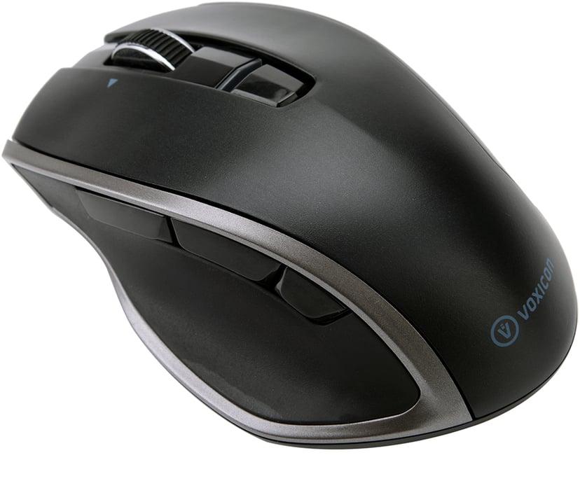 Voxicon Wireless Pro Mouse Dm-P20wl Bt+2.4Hz 1,600dpi Mus Trådlös Svart