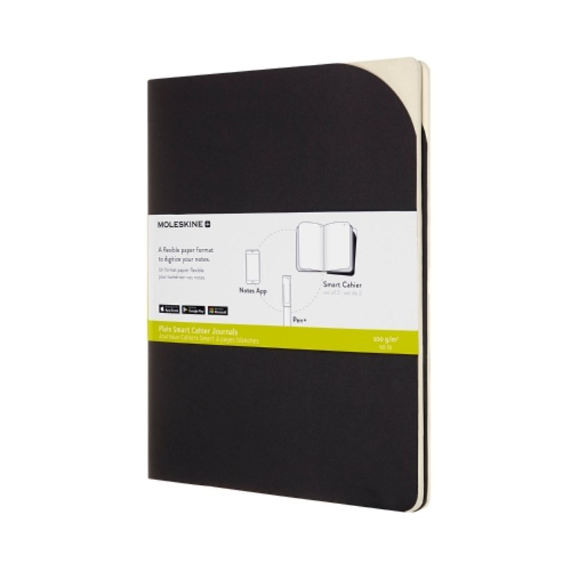 Moleskine Notebook Cashier XL Black Soft Unruled + Smartpen+