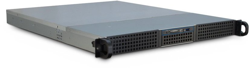 "Inter-Tech IPC 1U-10255 1U 19"" Rackchassi Svart"