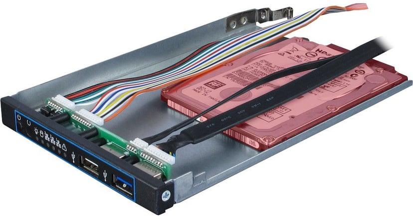 "Inter-Tech IPC 1U-10255 1U 19"" Rack Chassi Sort"