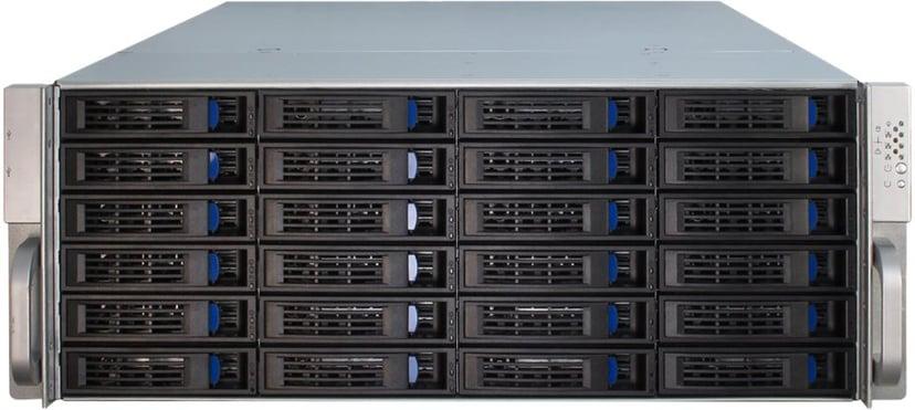 Inter-Tech IPC 4U-4424 24-Bay Storage Kabinett Svart