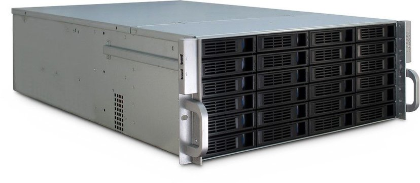Inter-Tech IPC 4U-4424 24-Bay Storage Chassi Svart