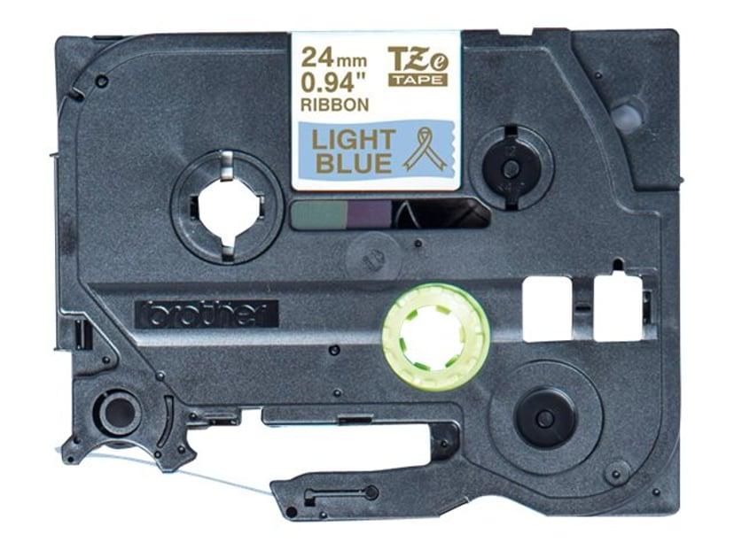 Brother Tape Cloth 24mm Tze-Rl54 Gold/Light Blue Satin