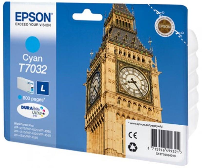 Epson Blekk Cyan T7032 L - WP4000/4500
