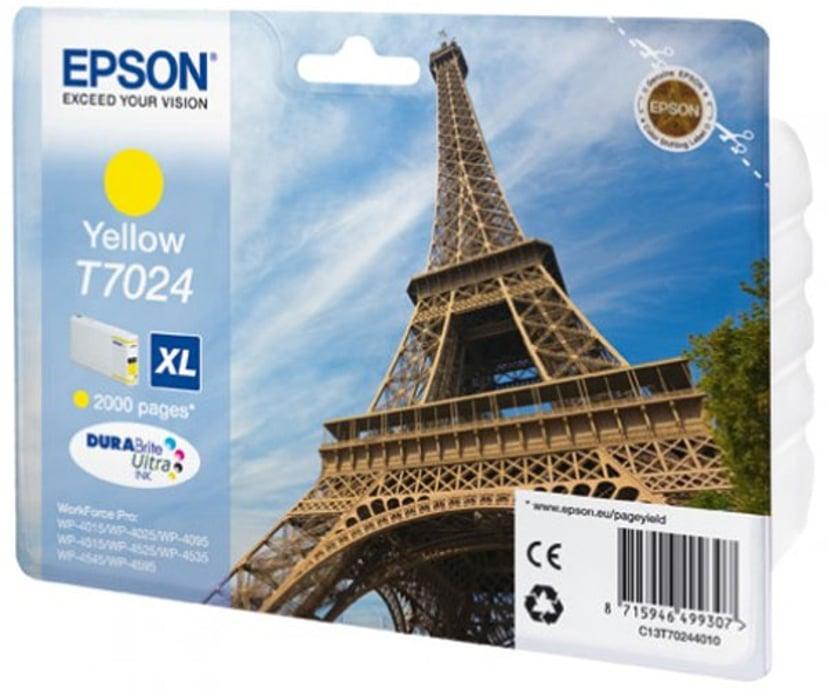 Epson Inkt Geel T7024 XL - WP4000/4500