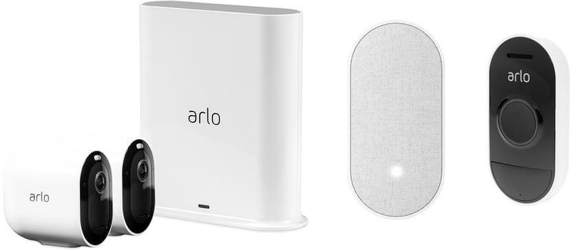 Arlo Pro 3 2-Pack + Doorbell + Chime Bundle