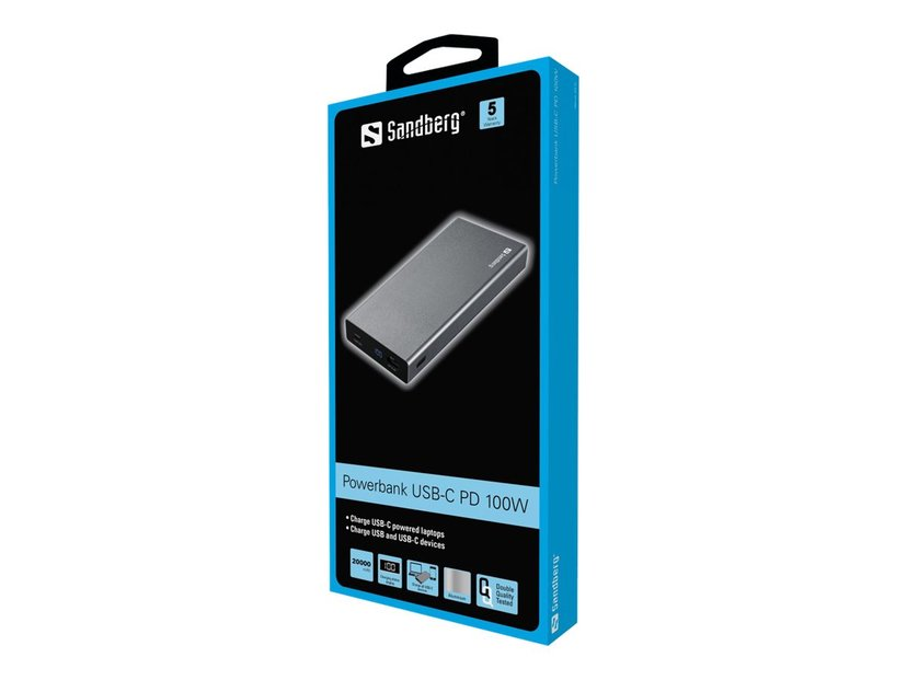 Sandberg Powerbank USB-C PD 100W 20000 Aluminium
