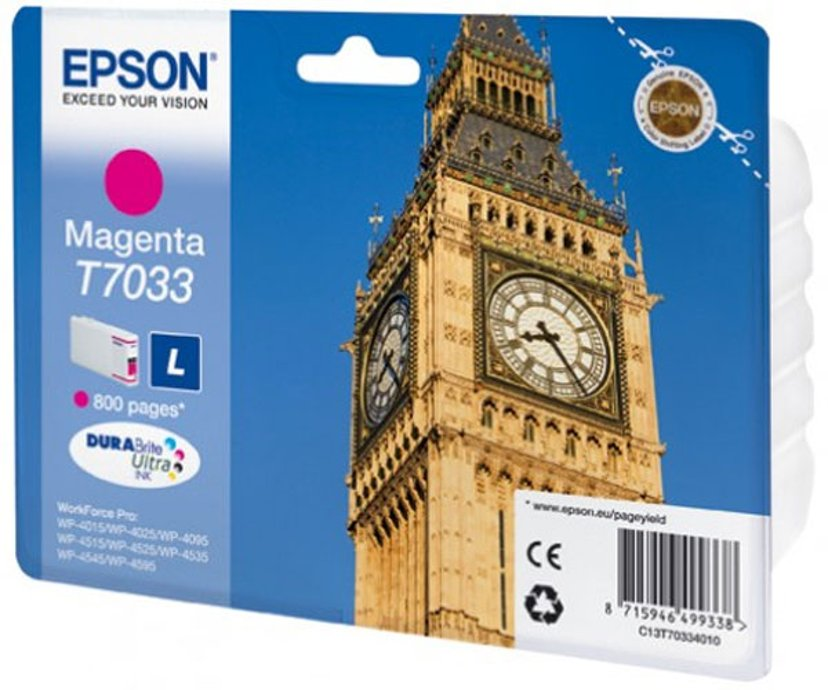 Epson Muste Magenta T7034 L - WP4000/4500
