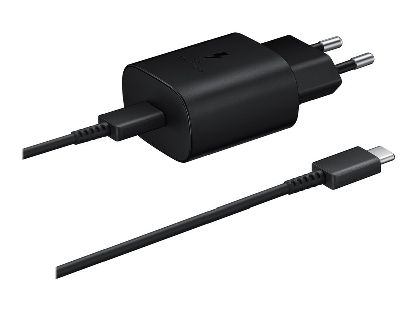 Samsung Wall Charger 25W + USB-C Cable Svart 1m