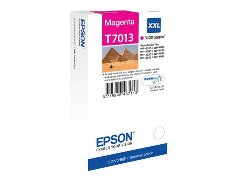 Epson Blæk Magenta T7013 XXL - WP4000/4500