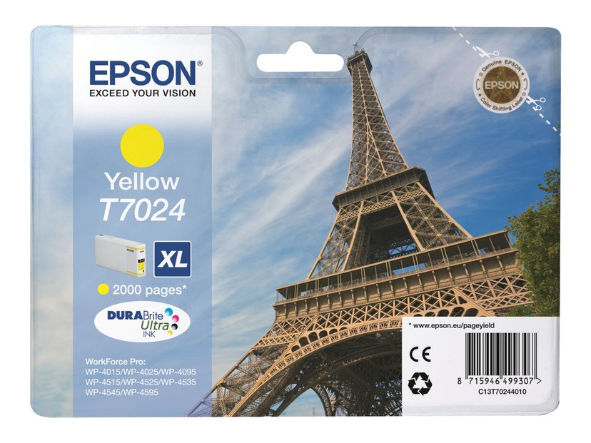 Epson Bläck Gul T7024 XL - WP4000/4500