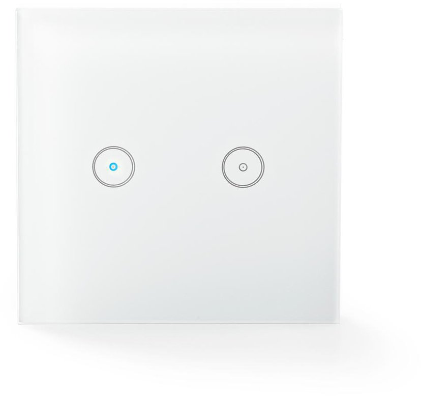 Nedis WiFi Smart Väggswitch Dubbel