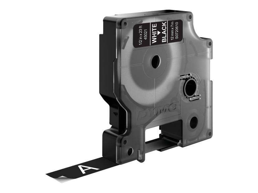 Dymo Tape D1 12mm White/Black