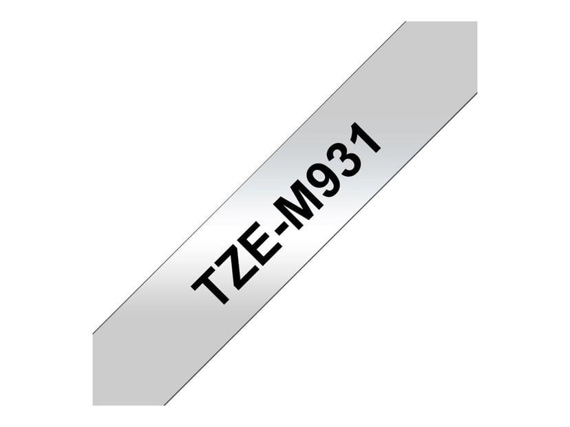 Brother Tape TZE-M931 12mm Svart/Silver