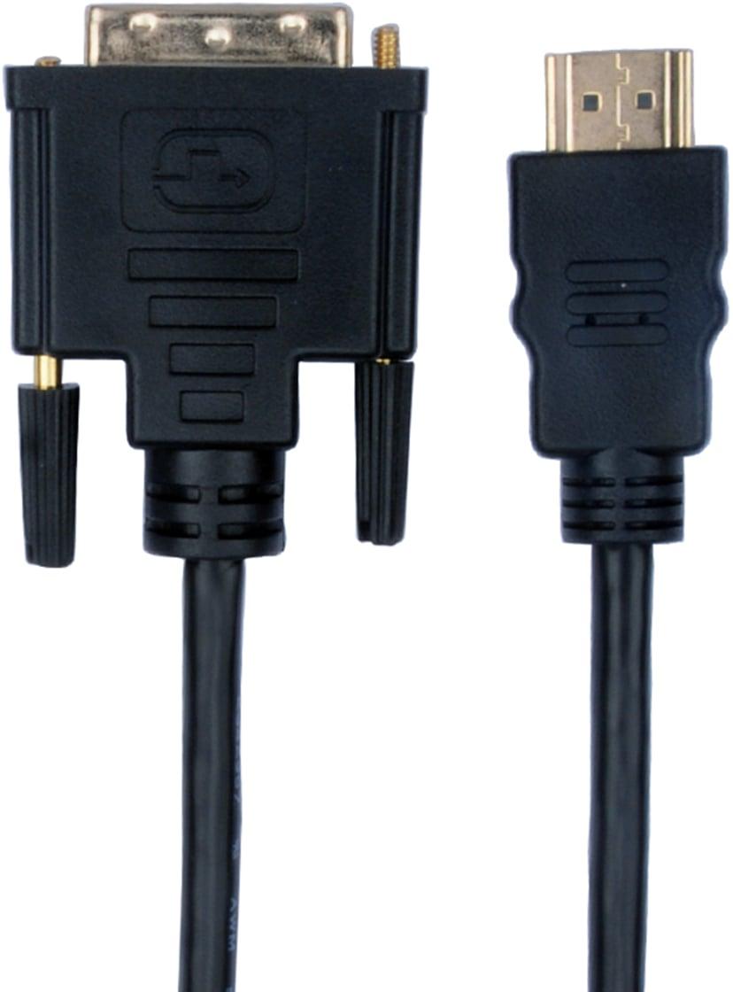 Prokord HDMI-Cabel - DVI-D 1.8m 1.8m DVI-D Male HDMI Male