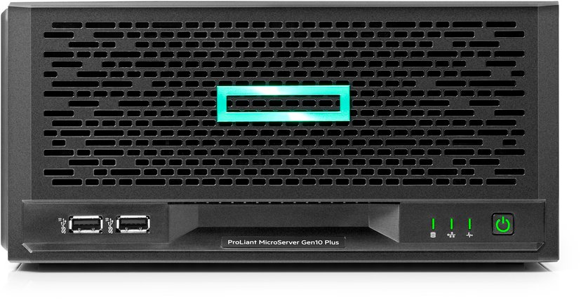 HPE MicroServer Gen 10 Plus - 2x1TB, iLO & extra RAM Pentium Dubbelkärnig 16GB