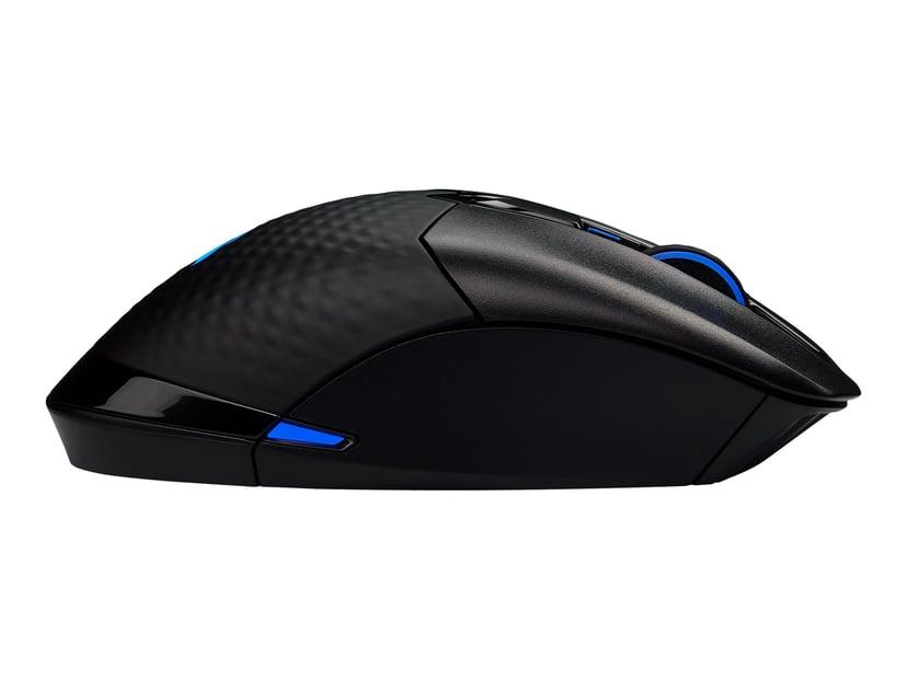 Corsair Gaming DARK CORE RGB PRO 18,000dpi Mus Kabelansluten, Trådlös Svart