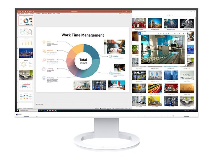 "EIZO FlexScan EV2760 27"" LED IPS HDMI/DVI-D/VGA/DP Hvit 27"" 2560 x 1440 16:9"