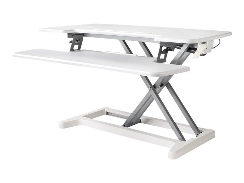 Bakker Justerbart Sit-Stand Desk Riser 2 Hvit