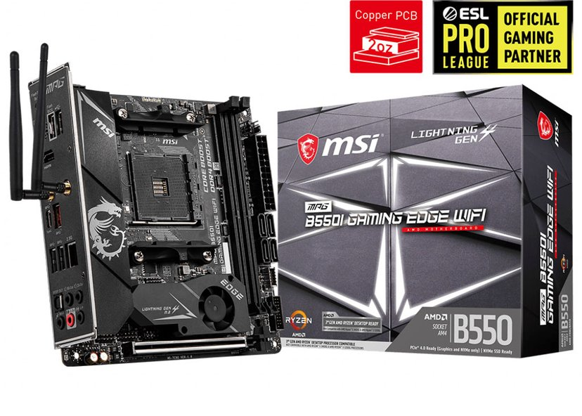 MSI MPG B550I GAMING EDGE WIFI Mini ITX Moderkort