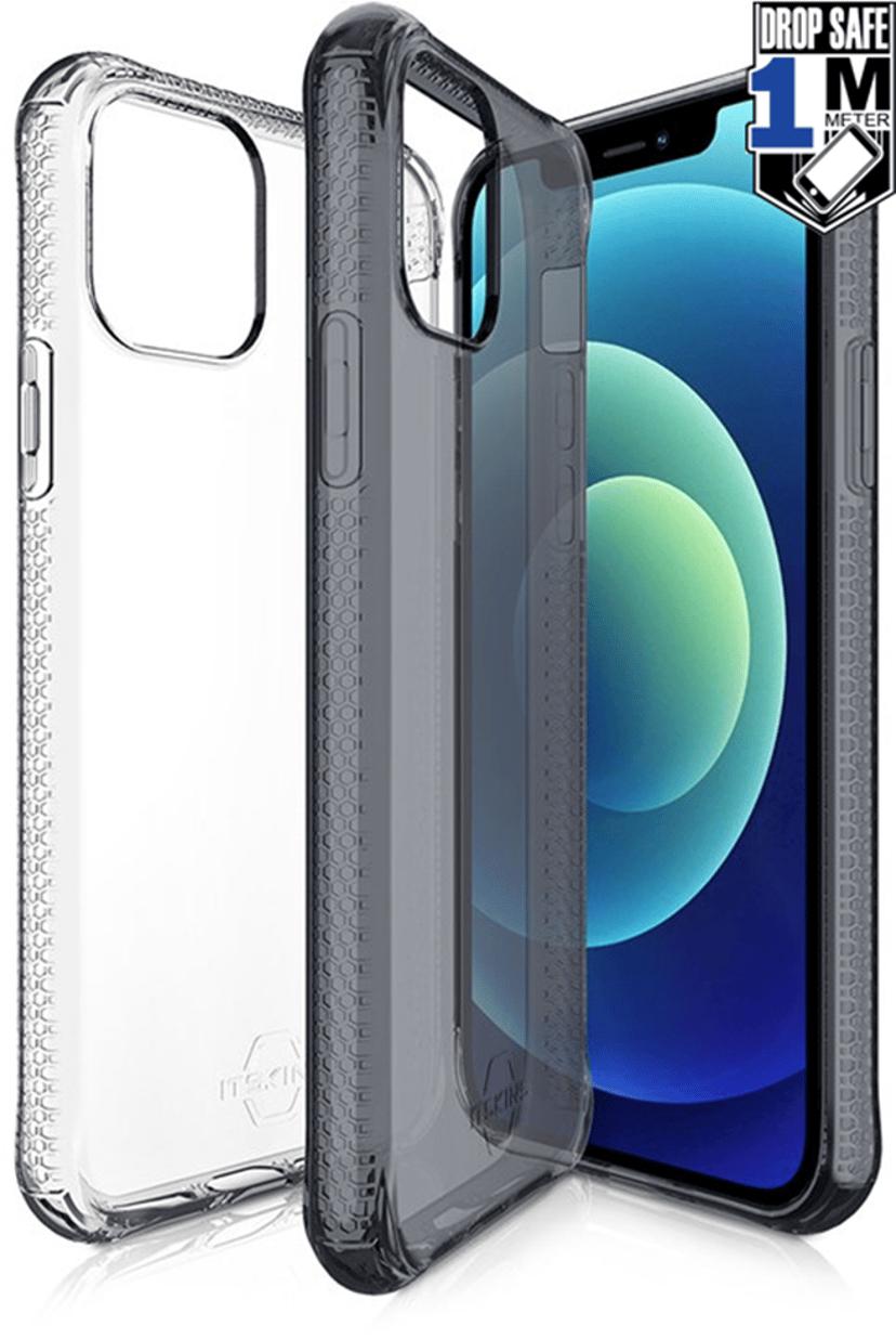 Cirafon Nano Clear Duo Drop Safe iPhone 12 Mini Gjennomskinnelig sort