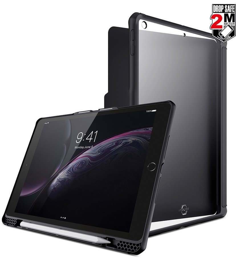 Cirafon Hybrid Solid Folio Drop Safe iPad 7th gen (2019); iPad 8th gen (2020) Svart