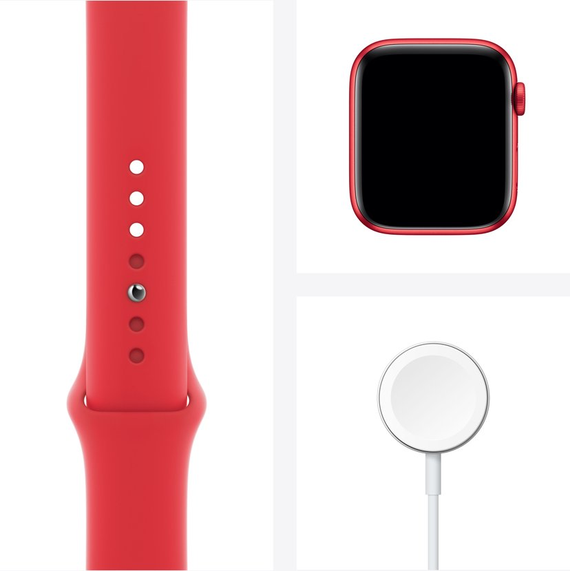 Apple Watch Series 6 GPS + Cellular, 44mm (PRODUCT)RED Aluminium Case with (PRODUCT)RED Sport Band - Regular