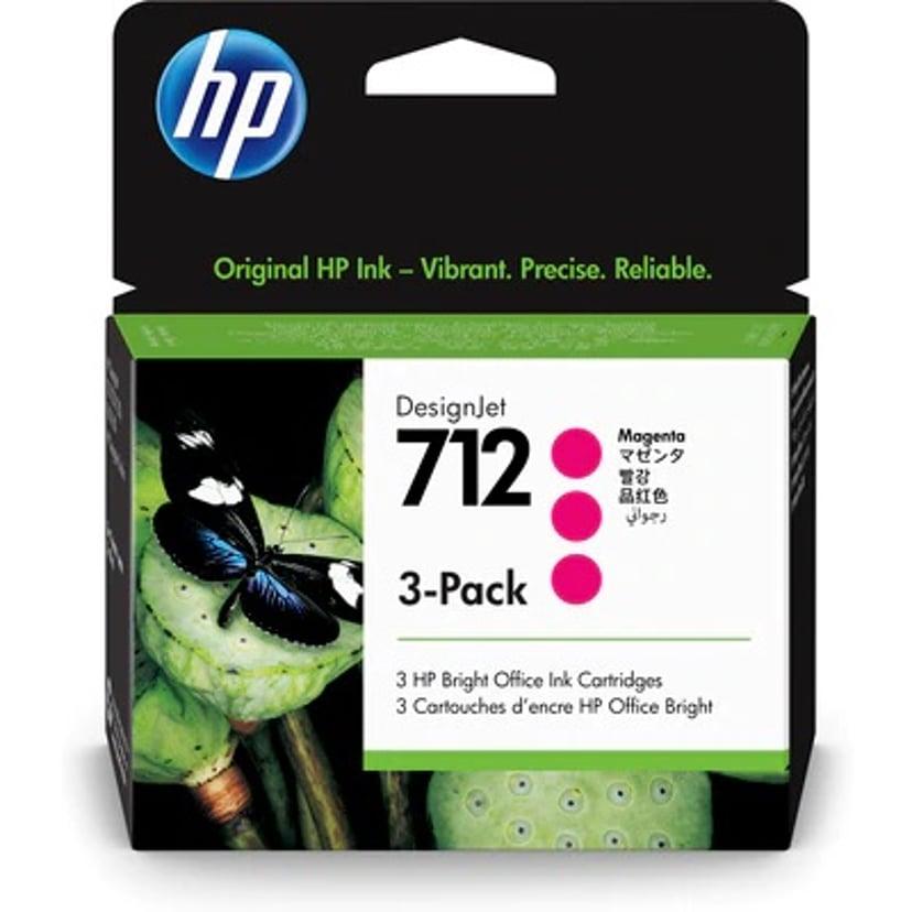 HP Blekk Magenta 712 29ml 3-Pack