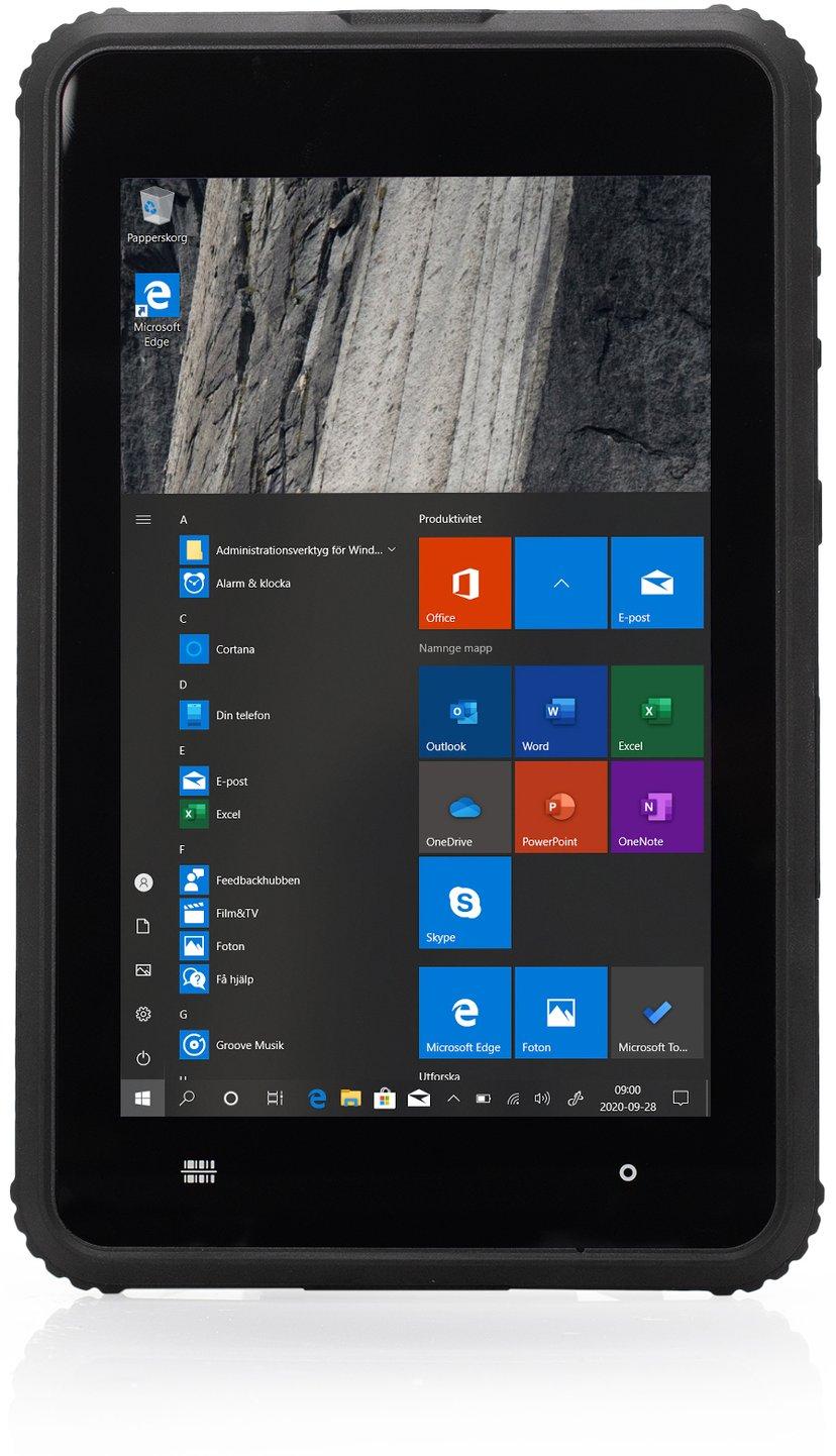 "Lamina ToughTab 8 Win10 Pro 4G + Handstrap/Barcode/NFC Scanner 8"" 64GB 4GB Svart"