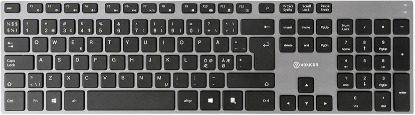 Voxicon Slim Metal Keyboard 295 Grey +Pro Mouse Dm-P30wl Nordisk