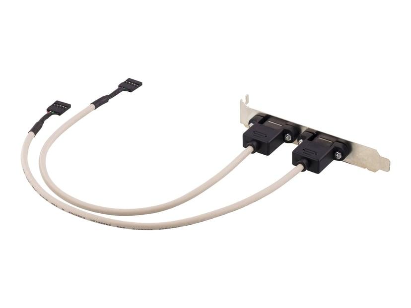 Deltaco Adapter 5-pins USB 2.0-hode Hunn 4-pins USB type A Hunn