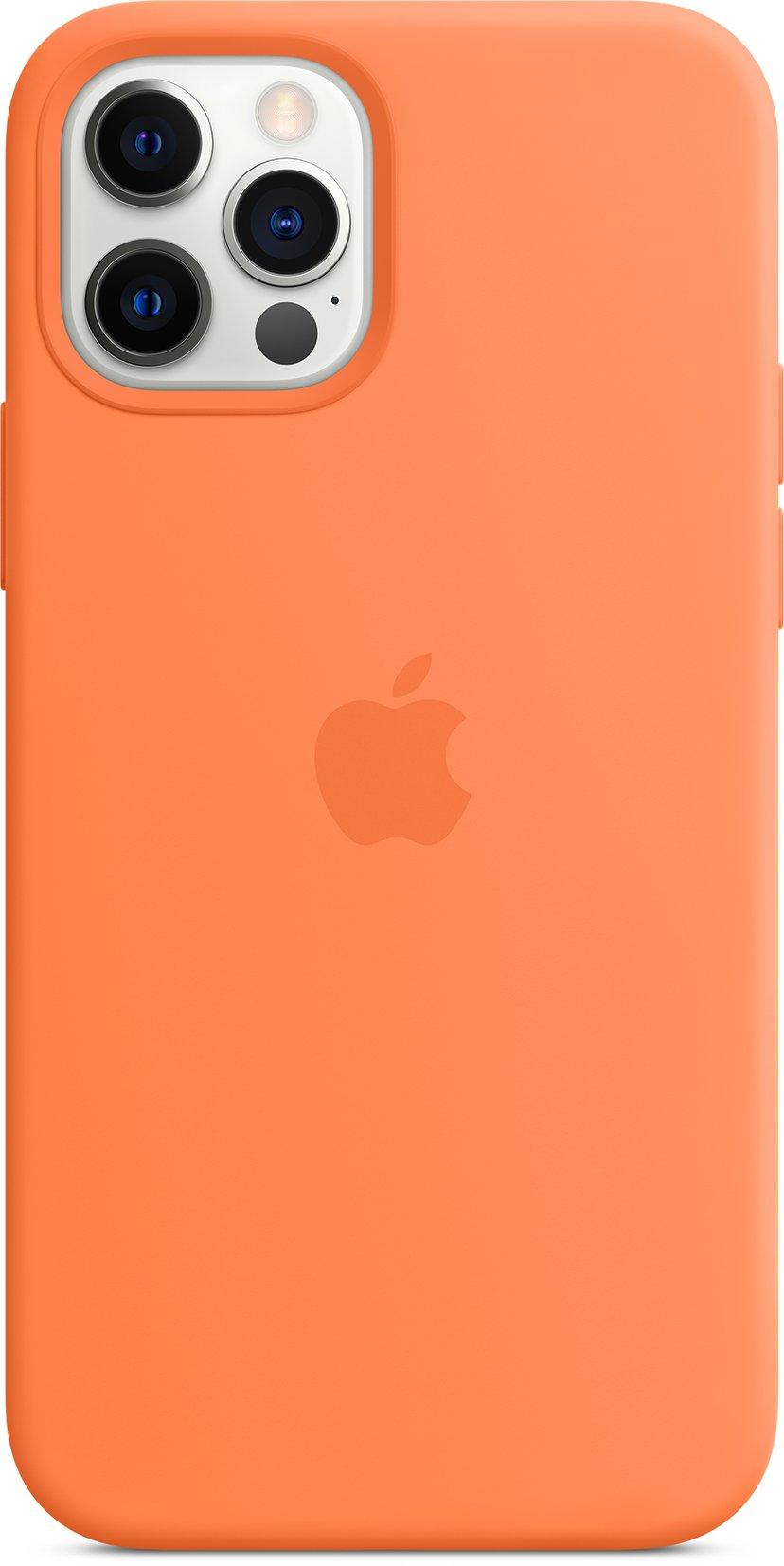 Apple Silicon Case with MagSafe iPhone 12, iPhone 12 Pro Kumquat