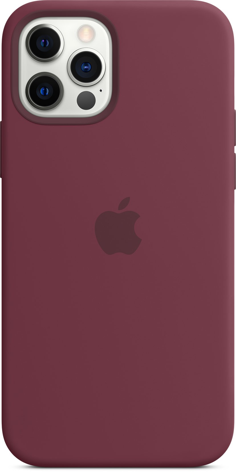 Apple Silicon Case with MagSafe iPhone 12, iPhone 12 Pro Plomme