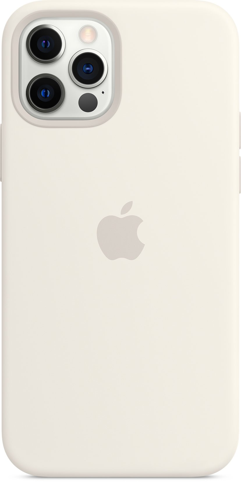 Apple Silicon Case with MagSafe iPhone 12, iPhone 12 Pro Hvit