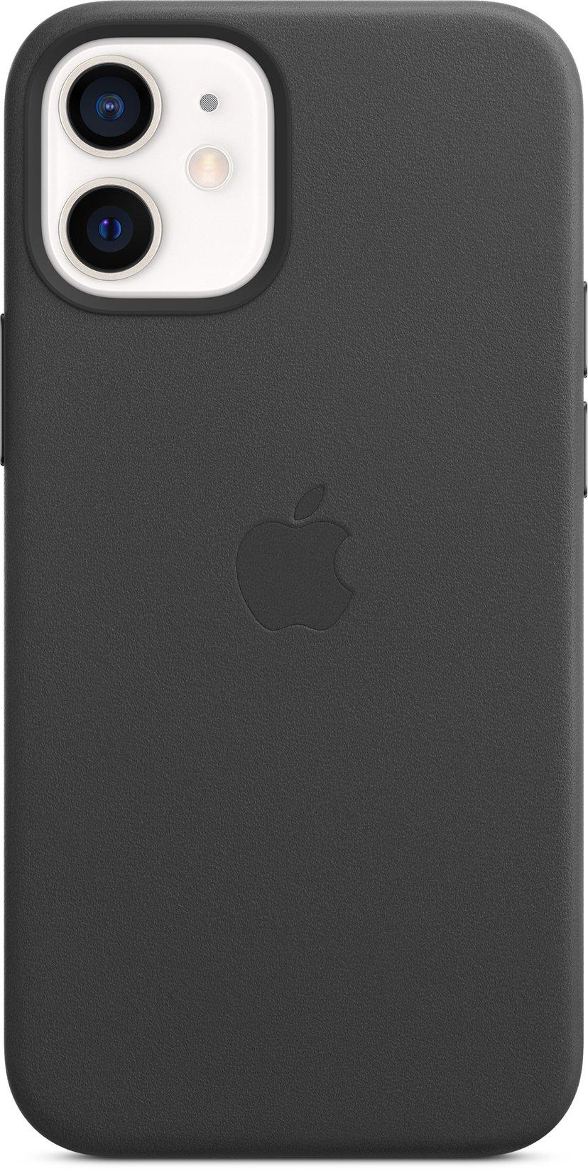 Apple Leather Case with MagSafe iPhone 12 Mini Svart