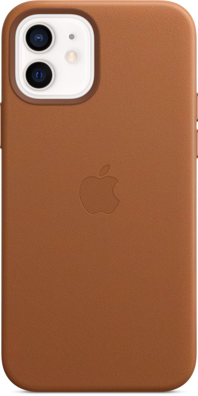 Apple Leather Case with MagSafe iPhone 12, iPhone 12 Pro Sadelbrun