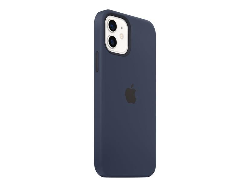 Apple Silicon Case with MagSafe iPhone 12, iPhone 12 Pro Diep marineblauw
