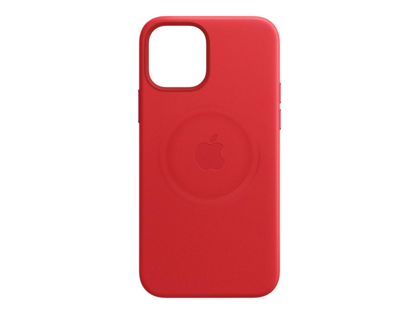Apple Leather Case with MagSafe iPhone 12, iPhone 12 Pro Tuote (RED)