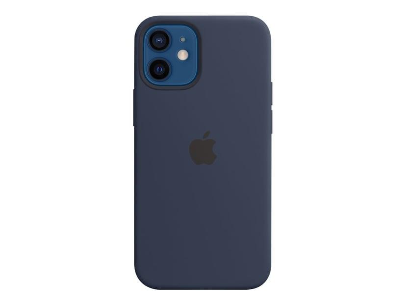 Apple Silicone Case with MagSafe iPhone 12 Mini Diep marineblauw