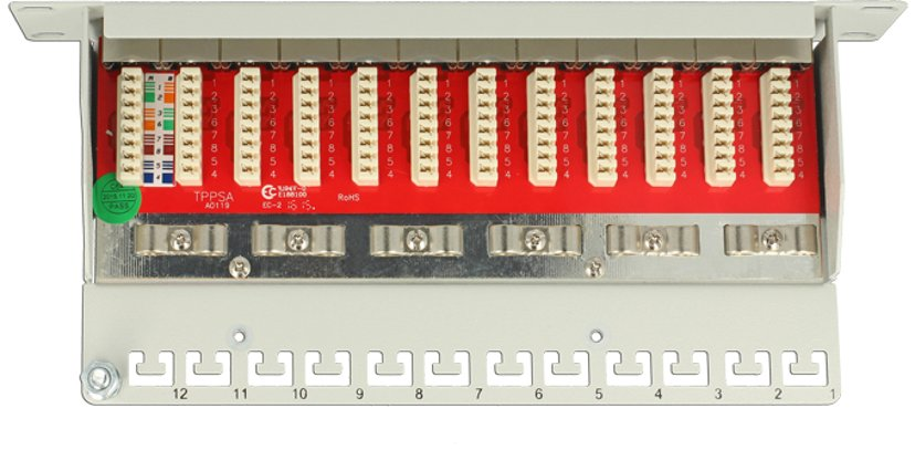 Delock Patchpanel 12 portar Shielded twisted pair (STP) CAT 6a