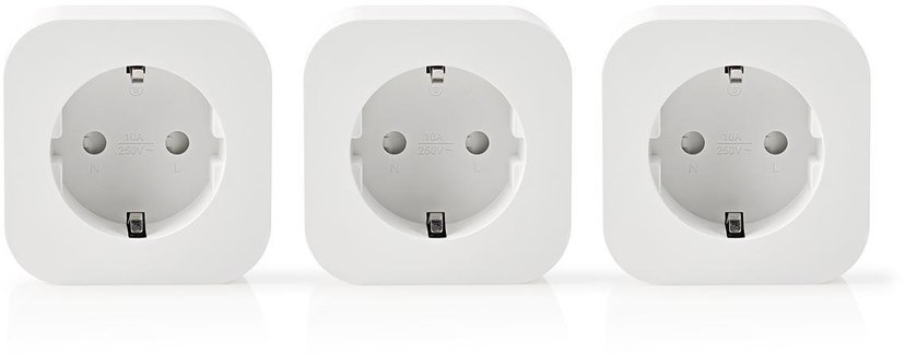 Nedis Wi-Fi Smart Plug 3-pakk.