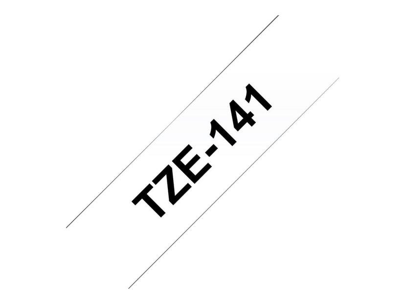 Brother Tape TZe-141 18mm Svart/Transparent