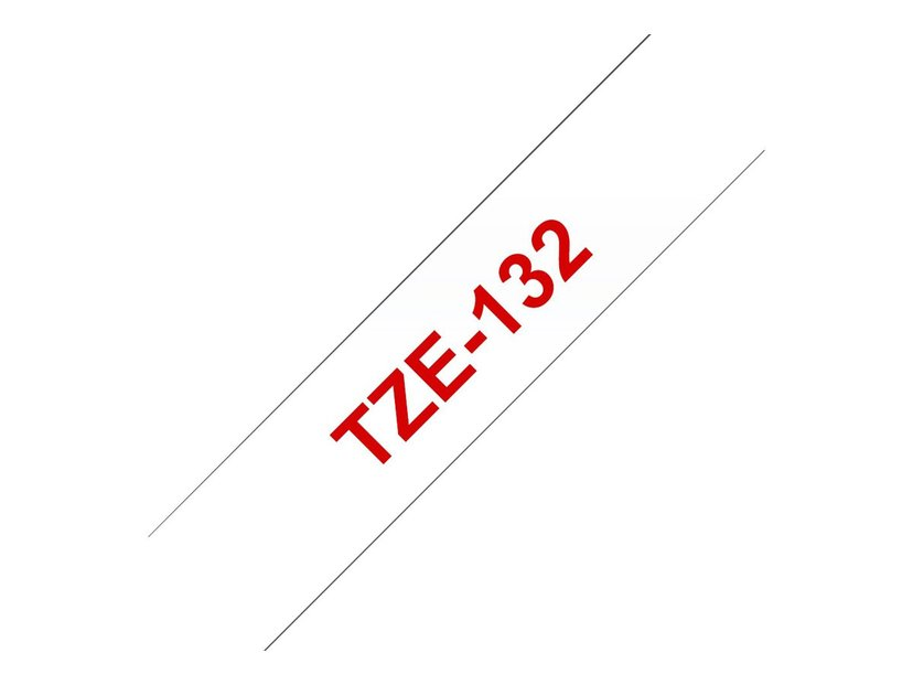 Brother Tape TZe-132 12mm Red/Transparent
