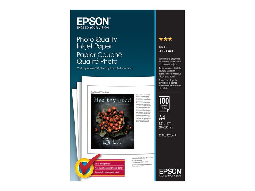 Epson Papper Photo Quality A4 100-ark 102G