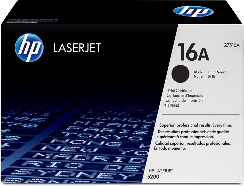 HP Toner Svart 16A 12K - Q7516A