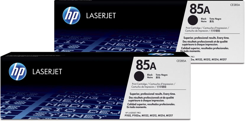 HP Toner Zwart 85A 1.6K - CE285AD 2-Pack