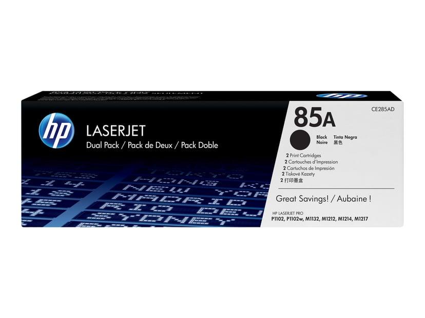 HP Värikasetti Musta 85A 1.6K - CE285AD 2-Pack
