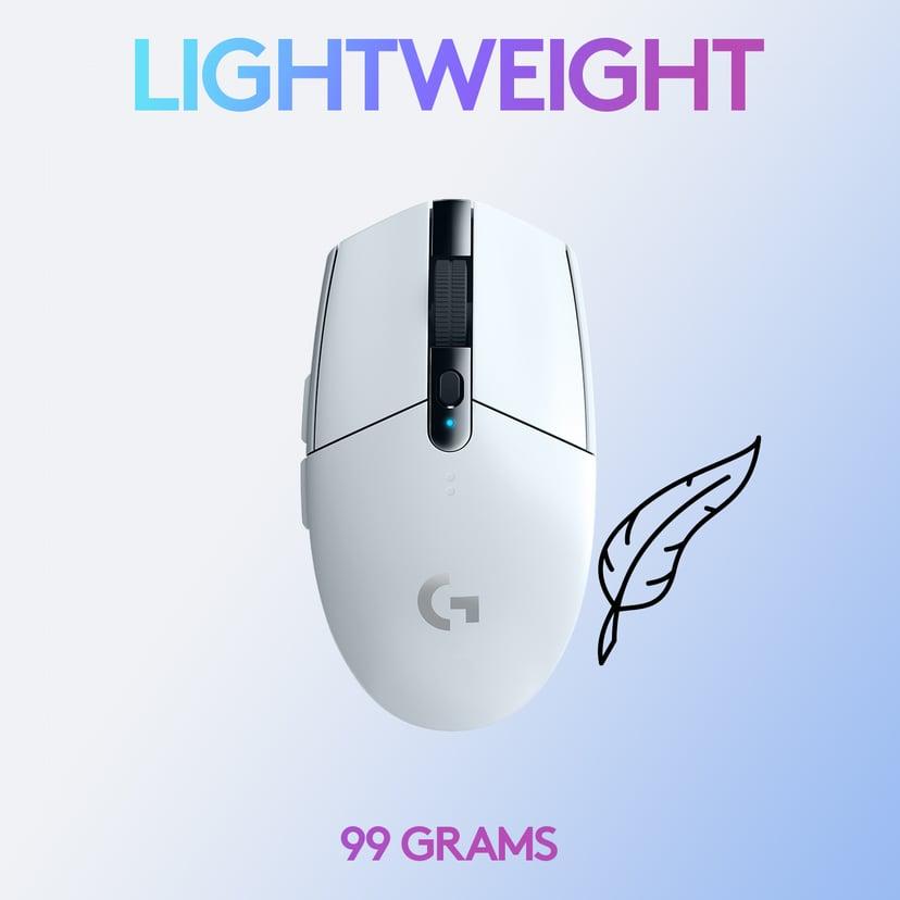 Logitech G305 Vit Mus Trådlös 12,000dpi